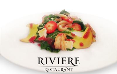 Ресторан Riviere. Специальное меню ко Дню Святого Валентина