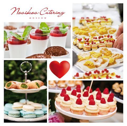 Доставка авторских десертов Novikov Catering
