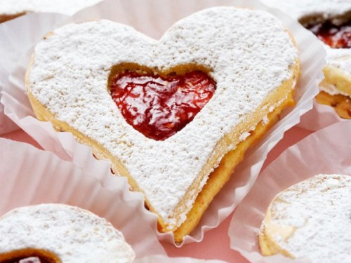 День святого Валентина меню от влюбленного сердца малиновые сердечки